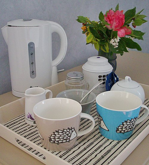Tea facilities in Lydbury bedrom