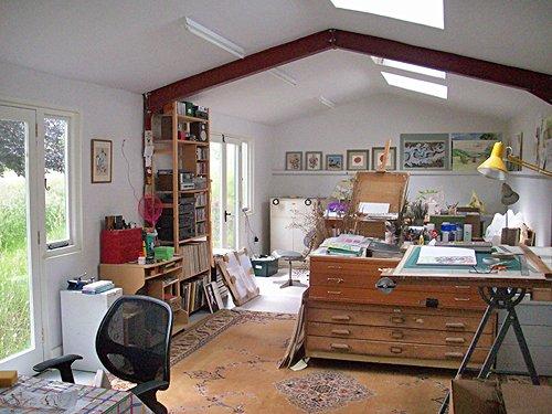 Artist's studio, Edgton b&b